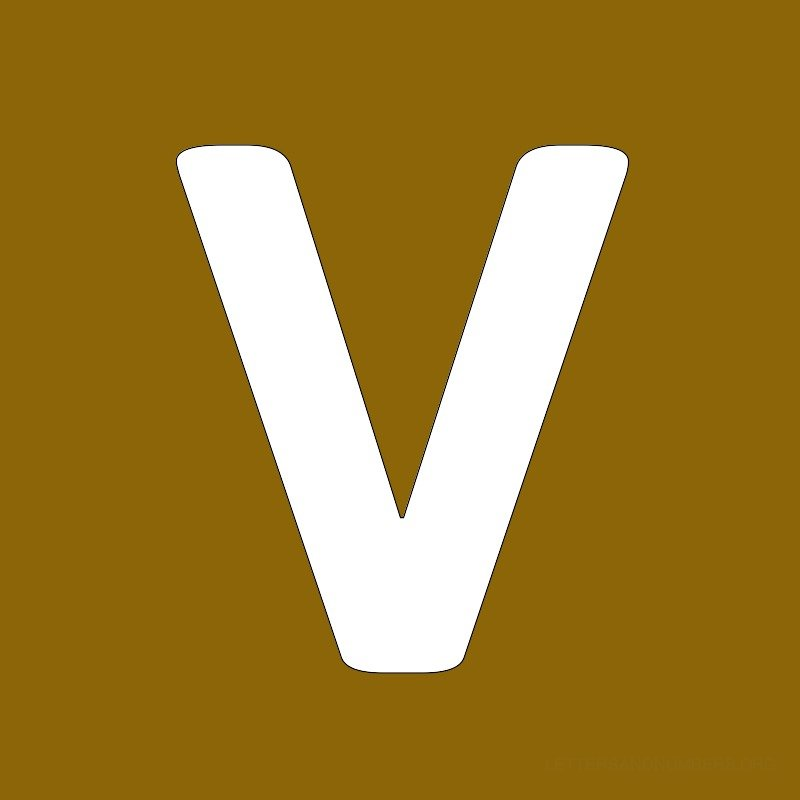 Gold Background Letter V