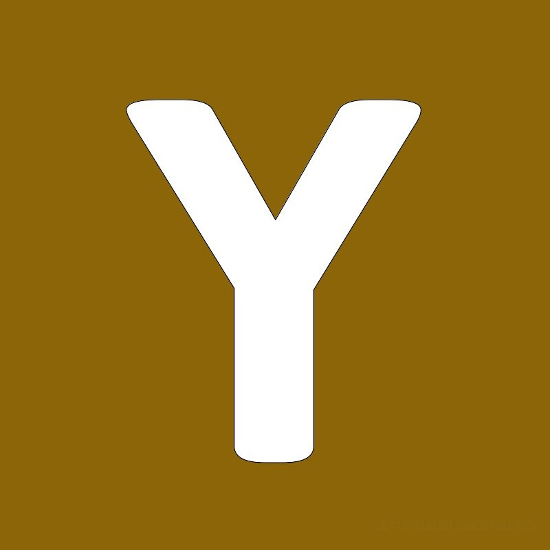 Gold Background Letter Y
