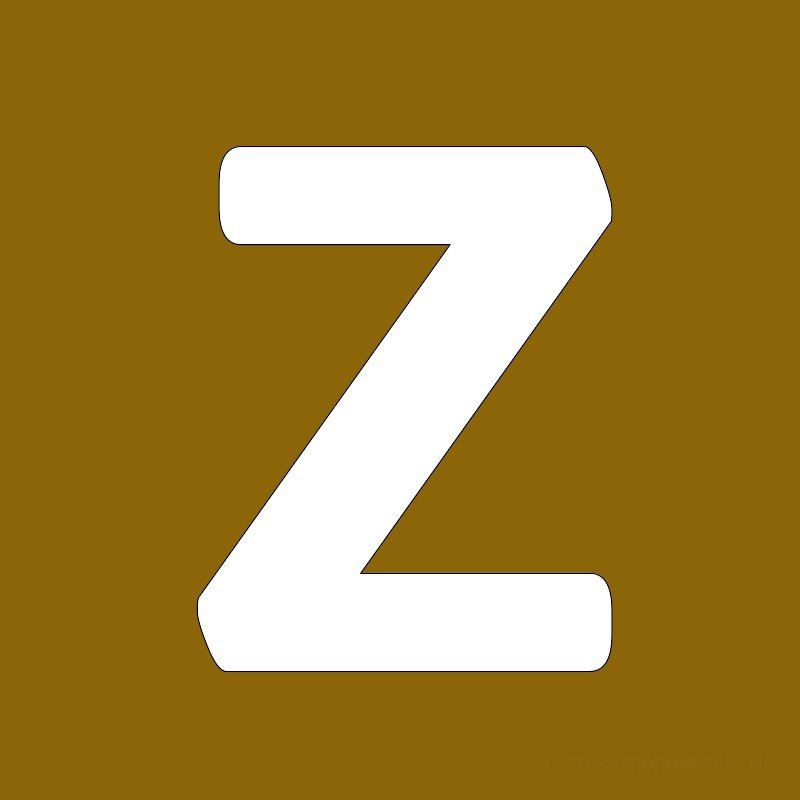 Gold Background Letter Z