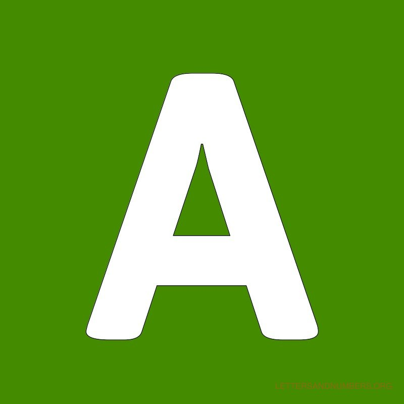 Green Background Letter A