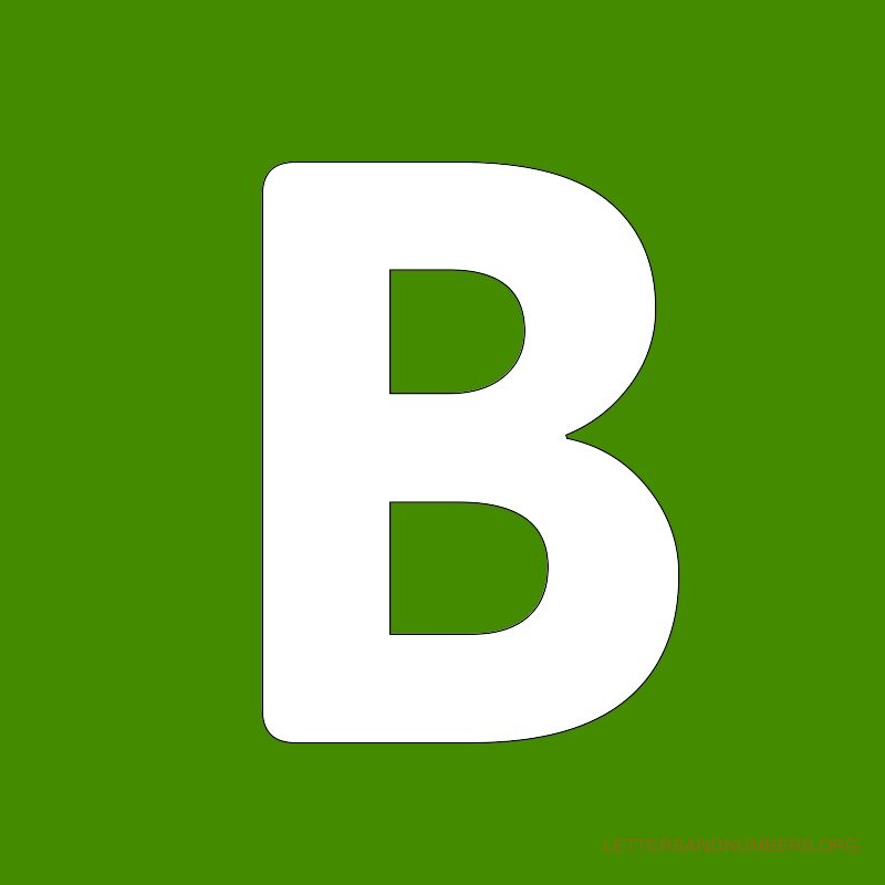 Green Background Letter B