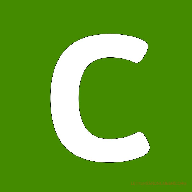 Green Background Letter C