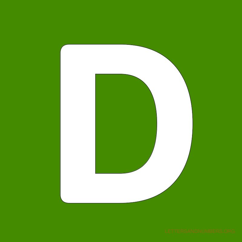 Green Background Letter D