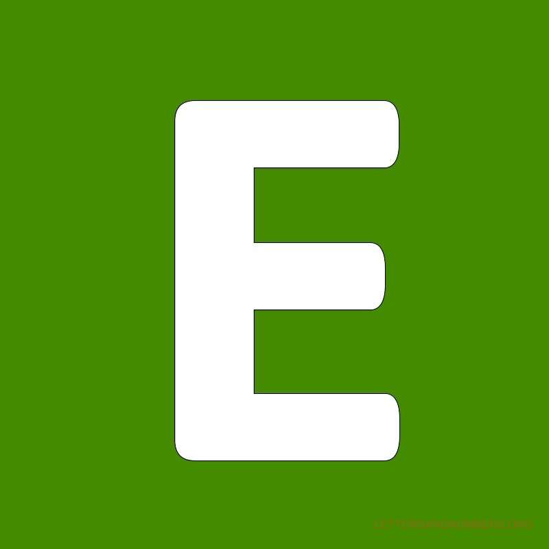 Green Background Letter E