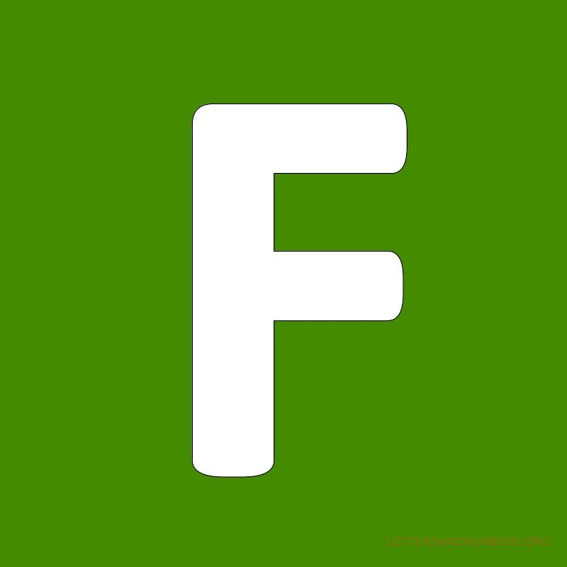 Green Background Letter F