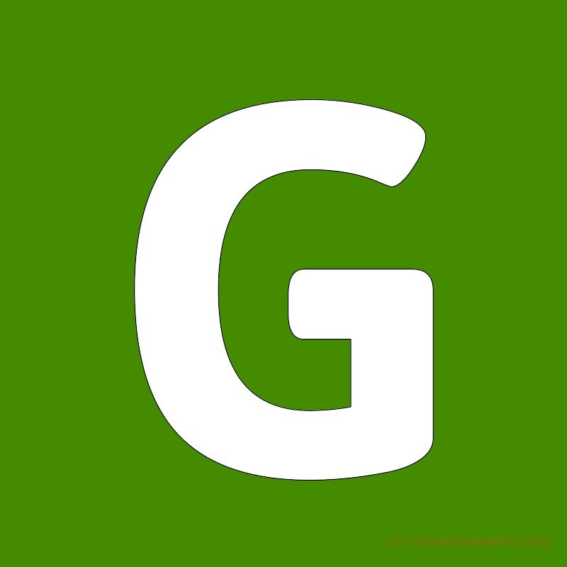 Green Background Letter G