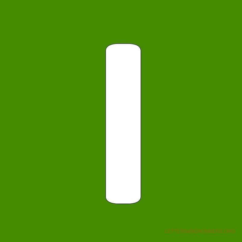 Green Background Letter I
