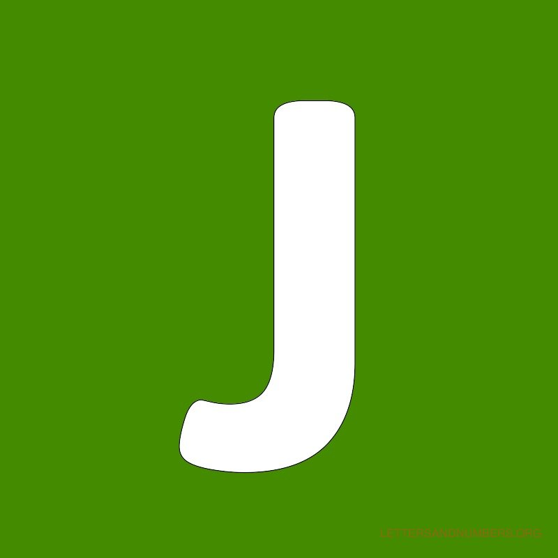 Green Background Letter J