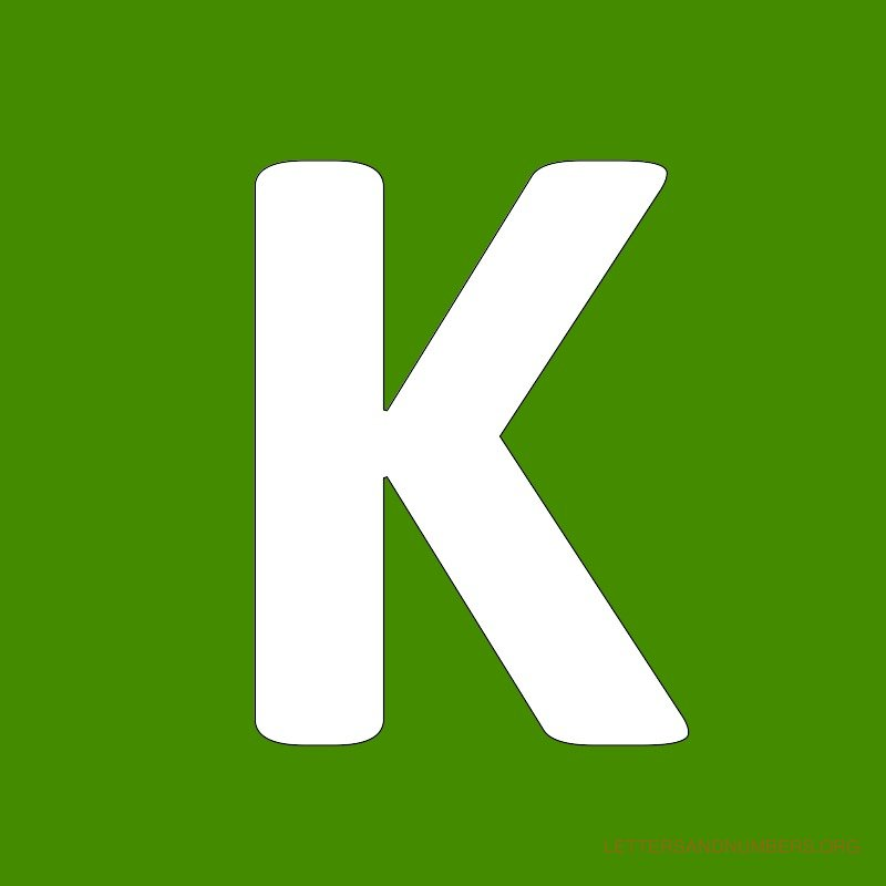 Green Background Letter K