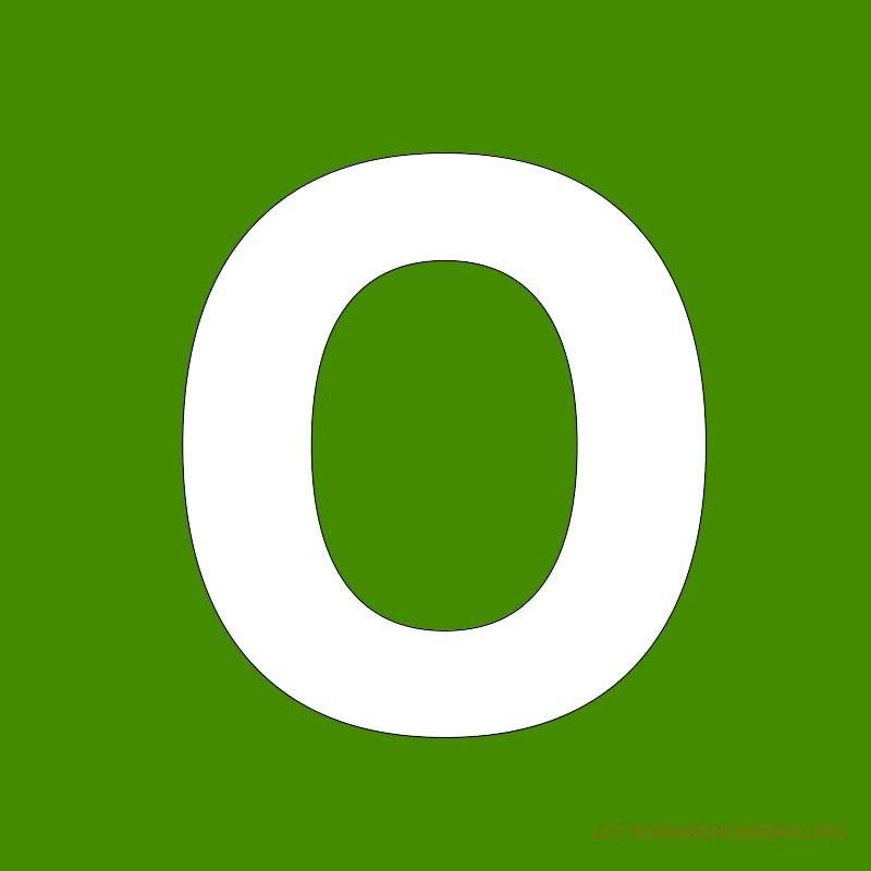 Green Background Letter O