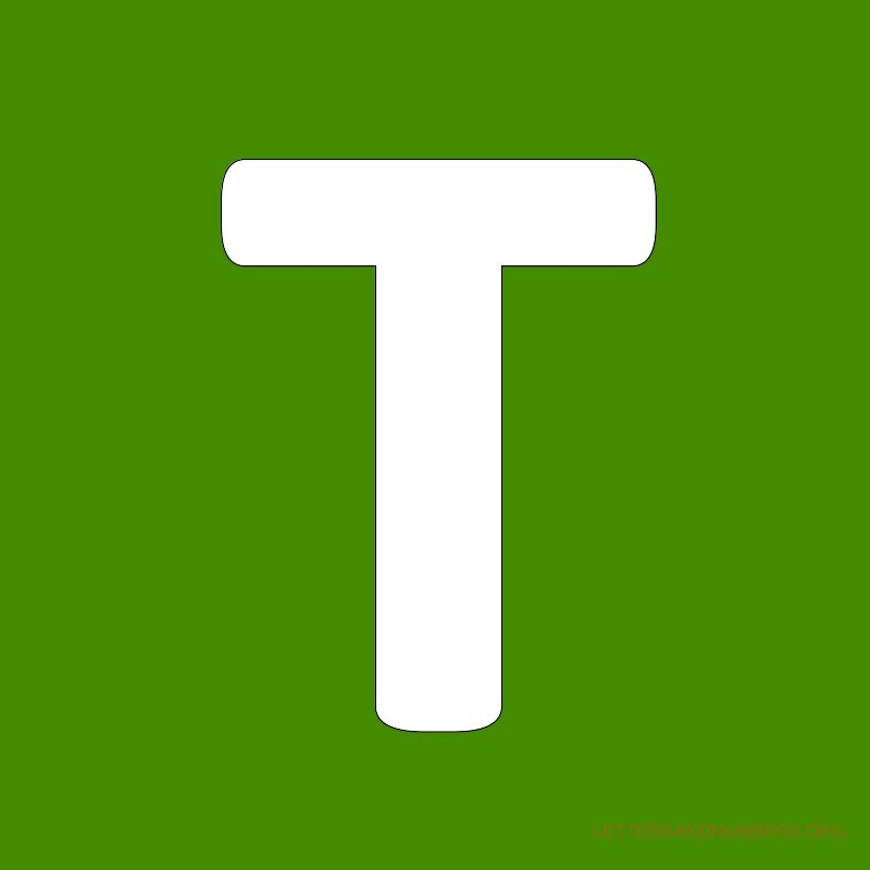 Green Background Letter T