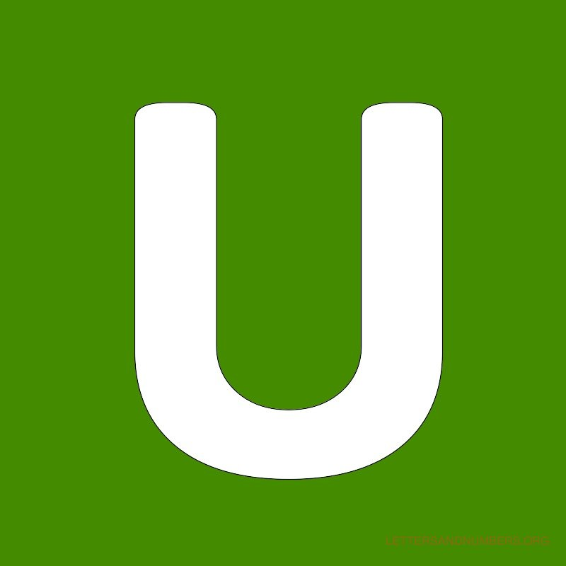 Green Background Letter U