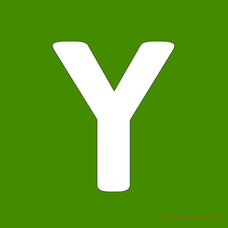Green Background Letter Y