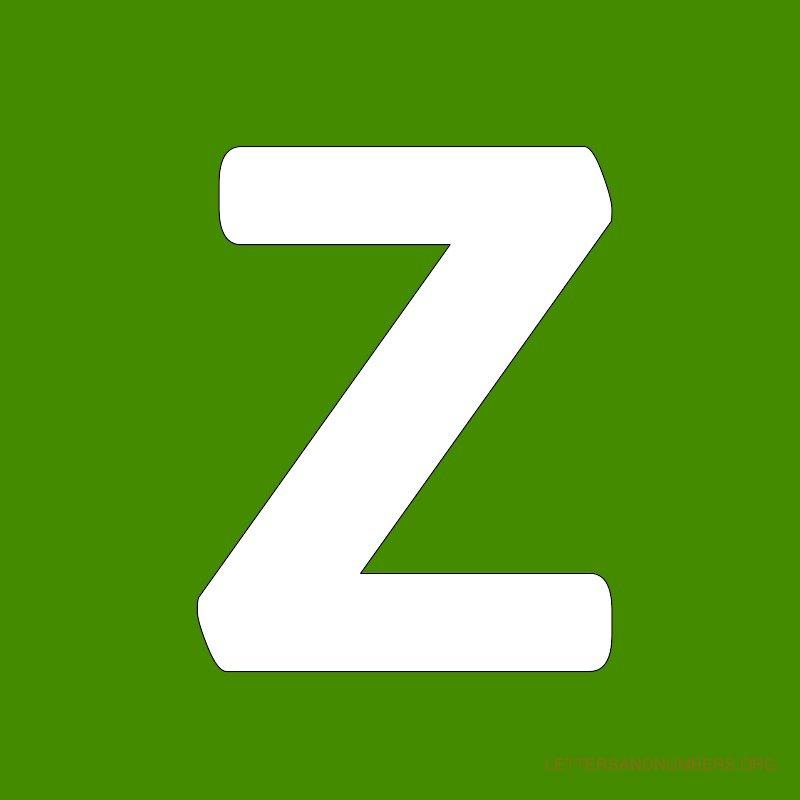 Green Background Letter Z