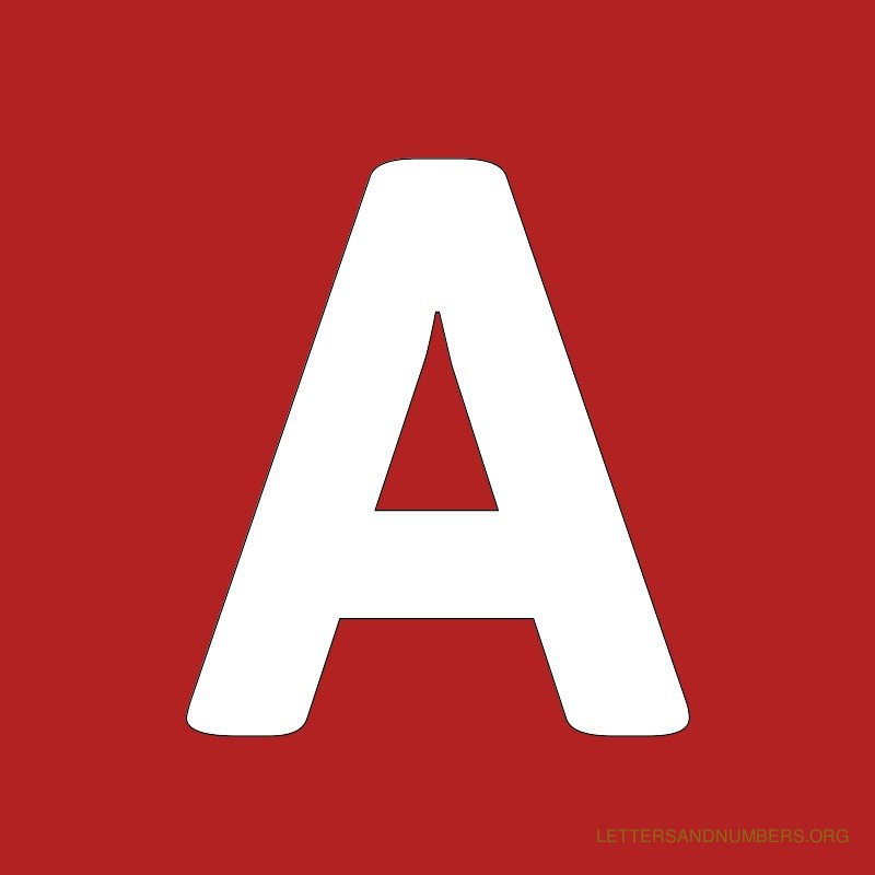 Red Background Letter A