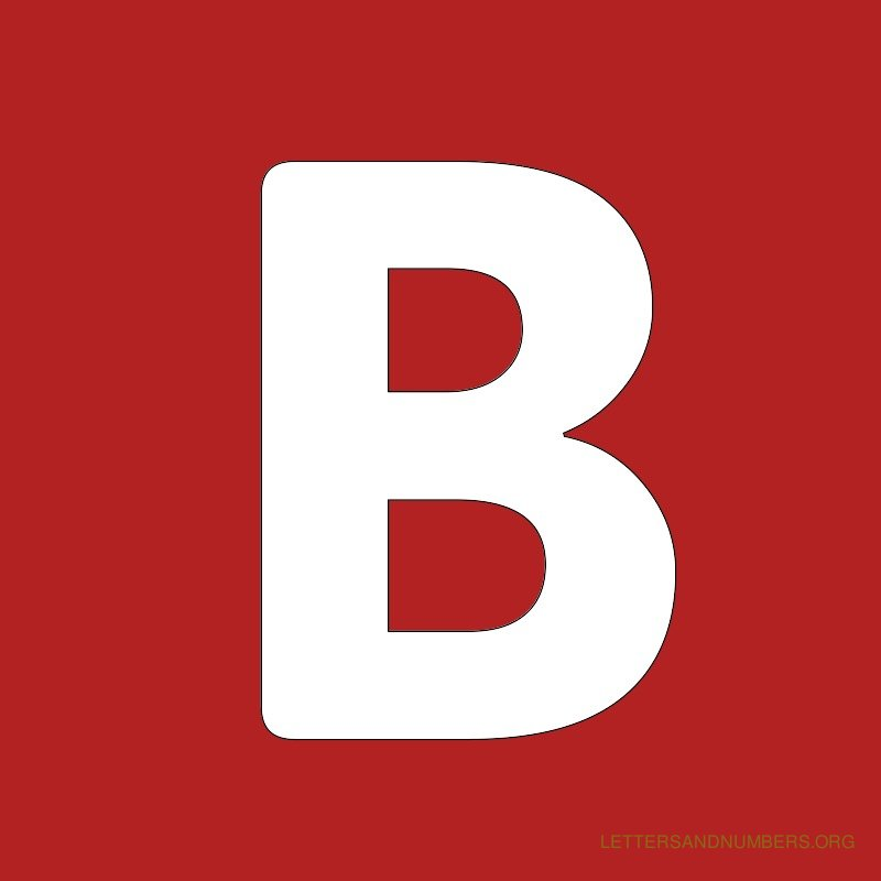 Red Background Letter B