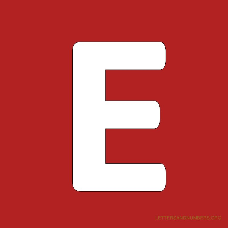 Red Background Letter E