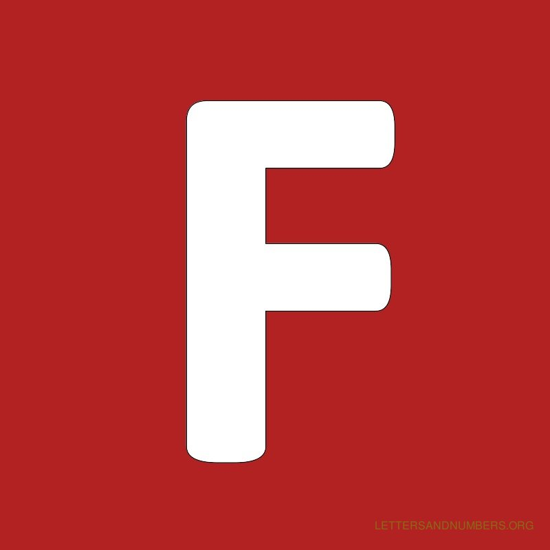 Red Background Letter F