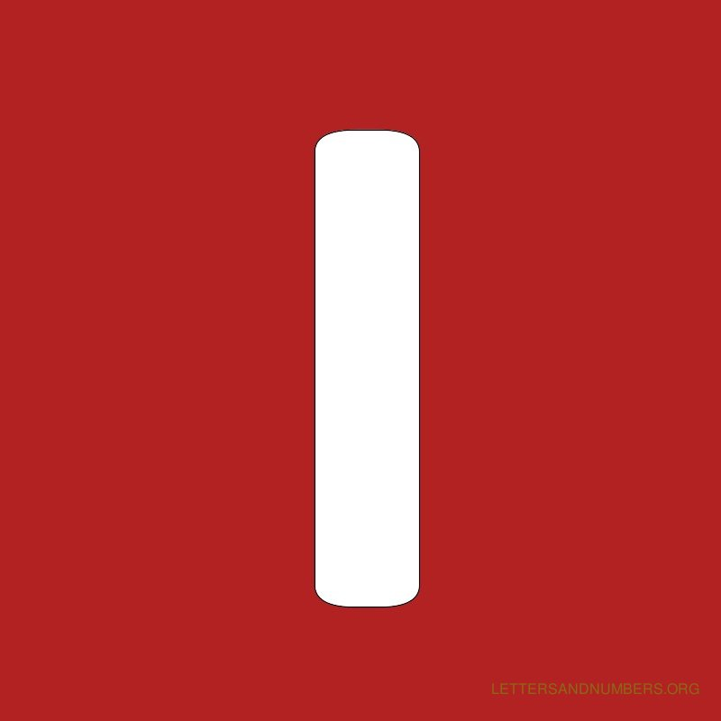 Red Background Letter I