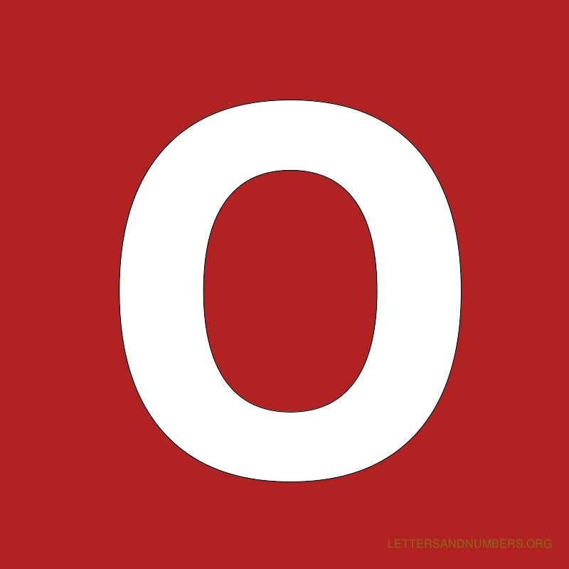 Red Background Letter O