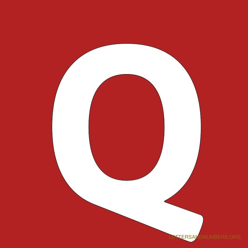 Red Background Letter Q
