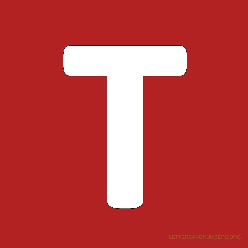 Red Background Letter T