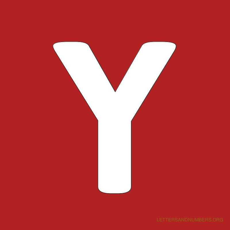 Red Background Letter Y