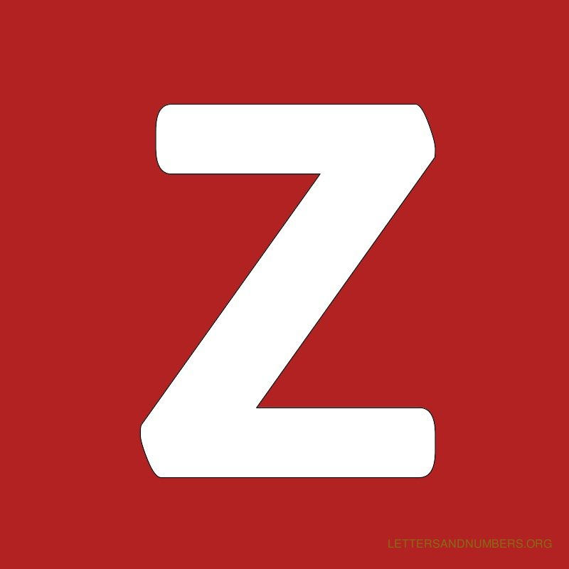 Red Background Letter Z