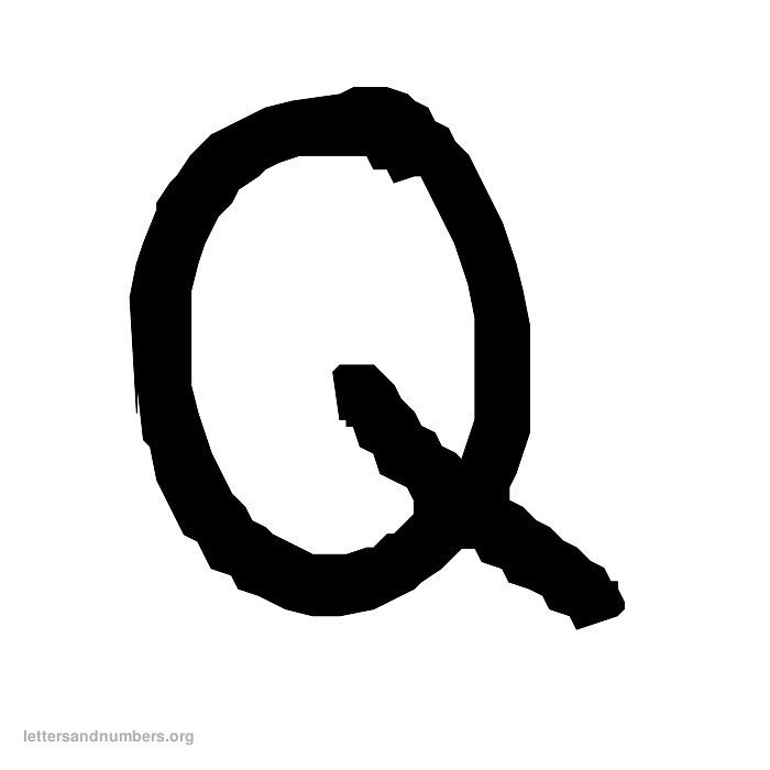 Handwriting Letter Q