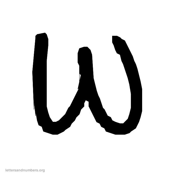 Handwriting Letter W