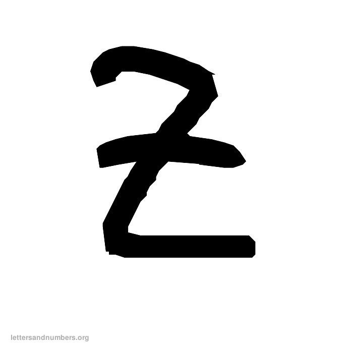 Handwriting Letter Z