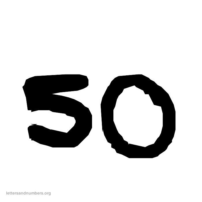 1-50 Handwriting numbers