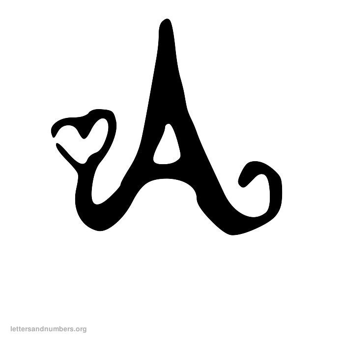Heart Letter A