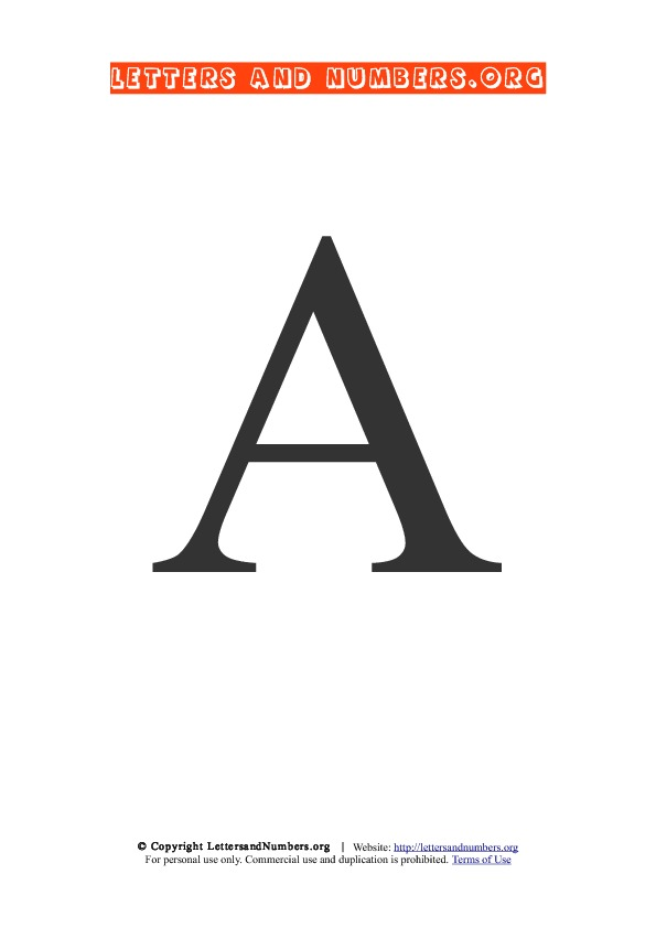 Large Letter A