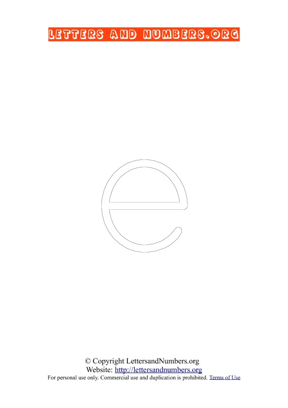Letter E Lowercase Coloring 1