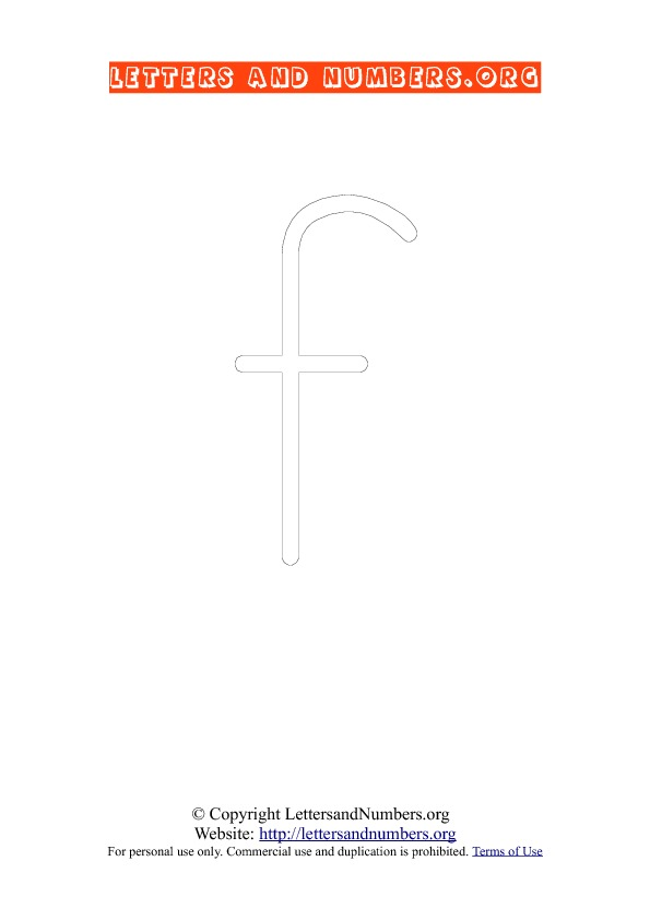 PDF Lowercase Coloring F