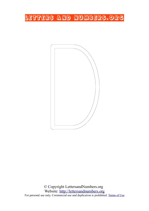 Alphabet Letter D Worksheets
