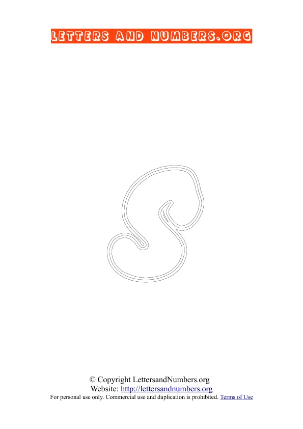 Letter S Lowercase Coloring 2