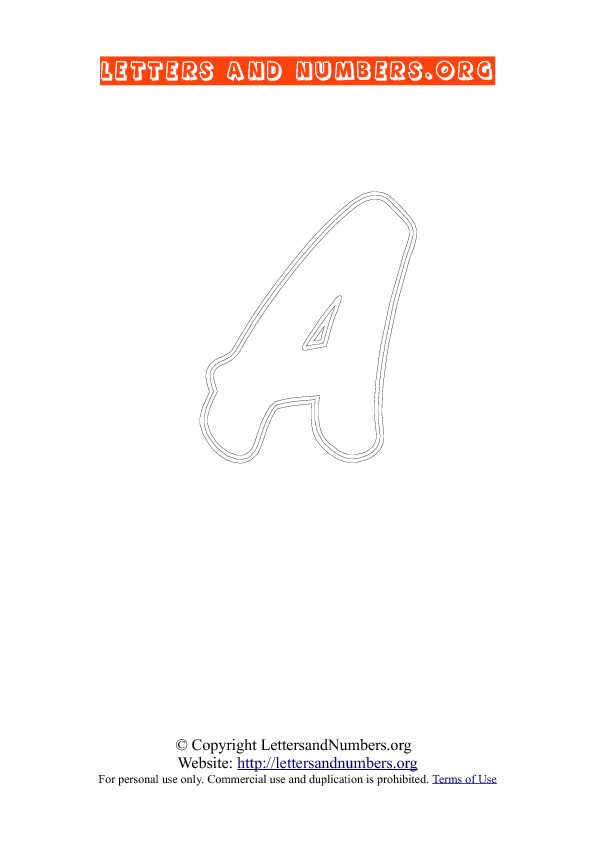 Letter A Uppercase Coloring 2