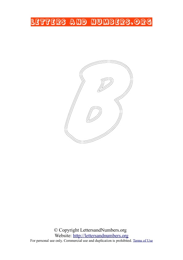 Letter B Uppercase Coloring 2