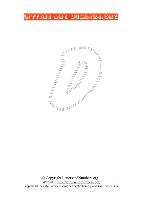 Letter D Uppercase Coloring 2