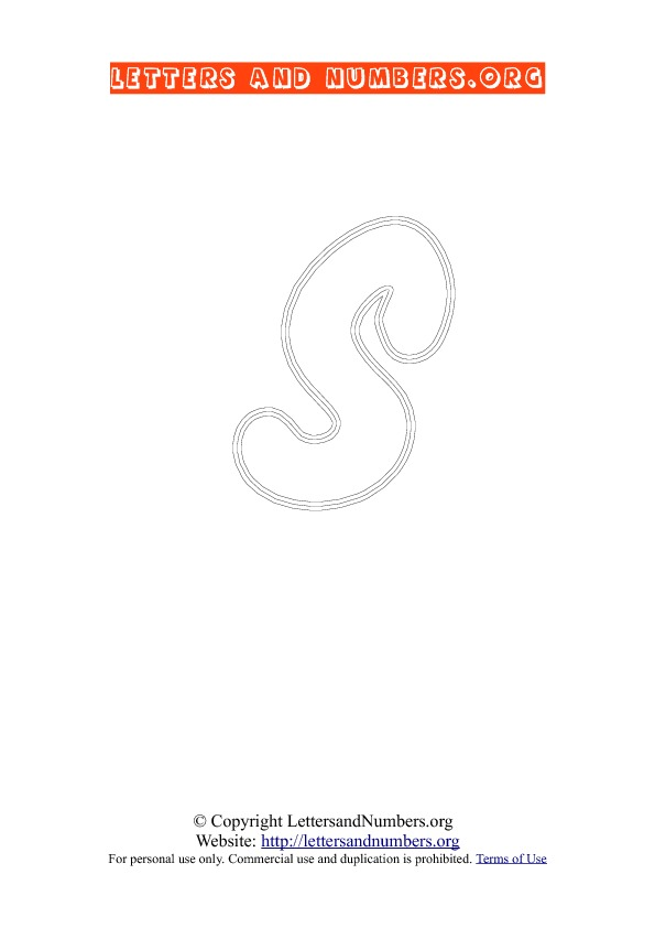 Letter S Uppercase Coloring 2
