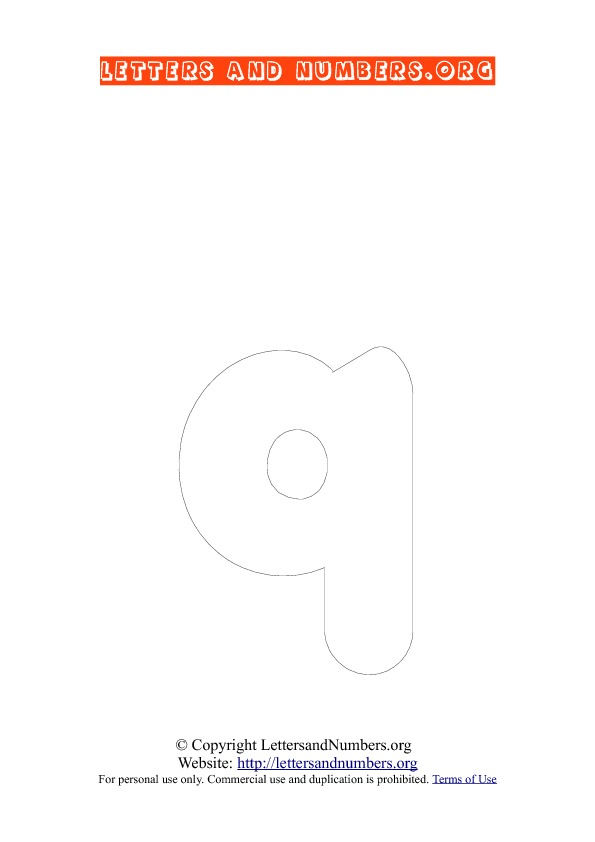 PDF Bubble Letter Coloring Q