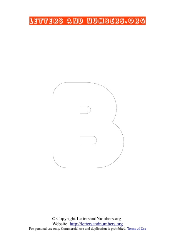 Letter B Uppercase Coloring 3
