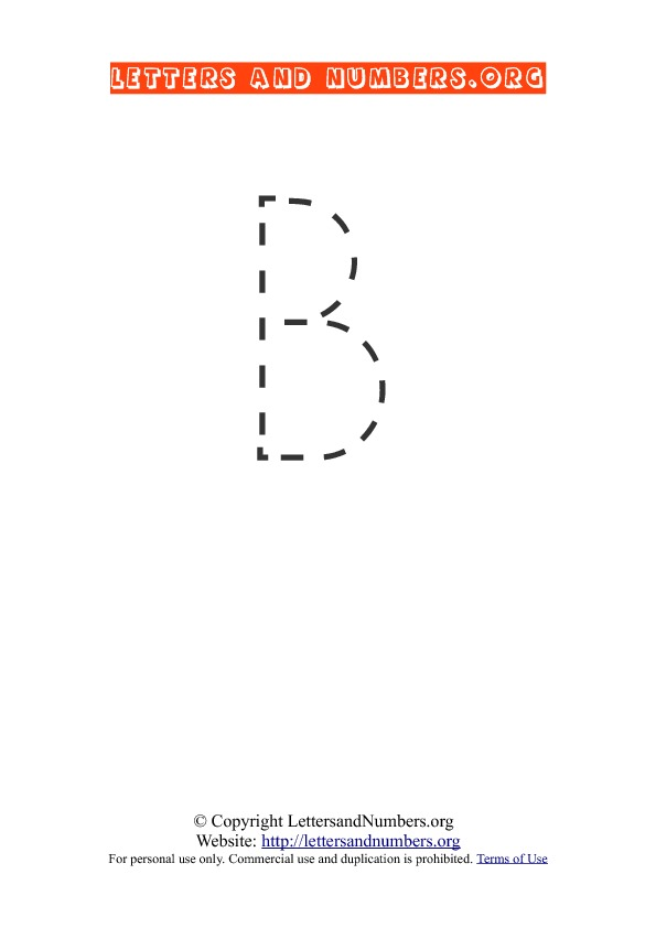 Letter B Uppercase Tracing