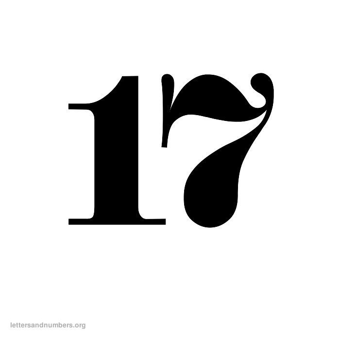 oldenglish-number-17 Old English Letter Templates on