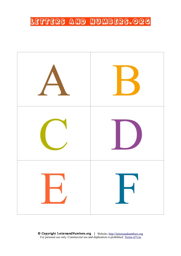 Uppercase Alphabet Letter Flash Cards