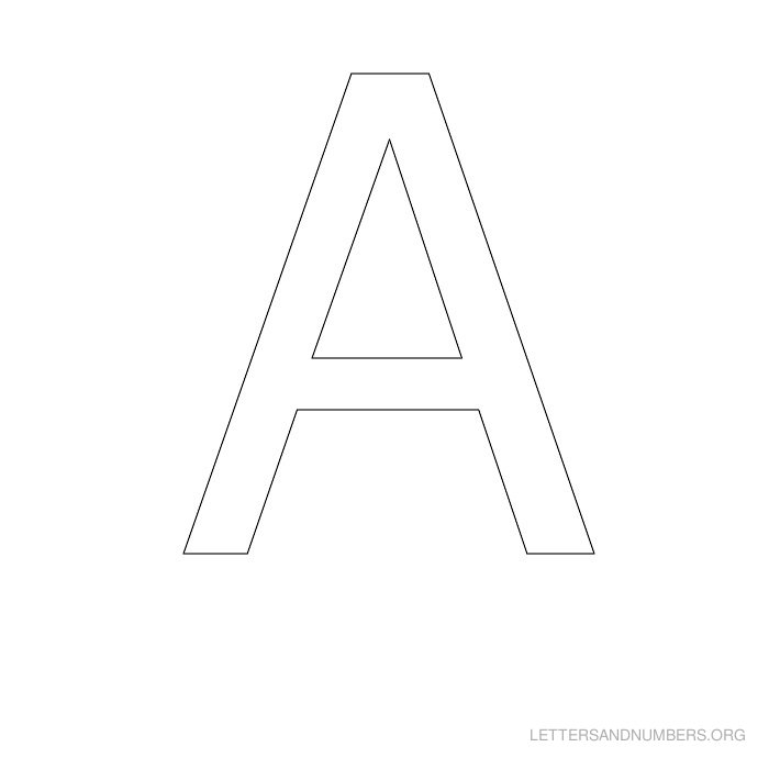 photo regarding Printable Letter I called A-Z Letter Stencils Letters and Figures Org