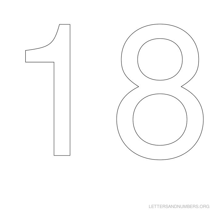 graphic about Printable Bubble Numbers known as Printable Quantity Stencils 1 in direction of 50 Letters and Quantities Org