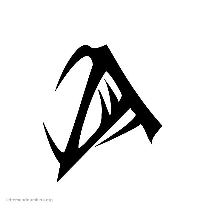 A-Z Tattoo Letters